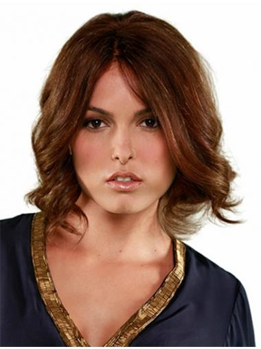 "Chin Length Brown Hairstyles 10"" Curly Bob Wigs"
