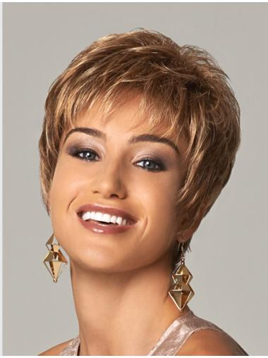 """Curly Layered 8"""" Blonde Soft Synthetic Wigs"""