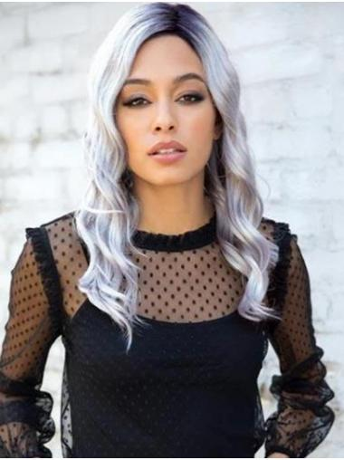 """Ombre/2 tone 16"""" Long Wavy Synthetic Lace Front Wig"""