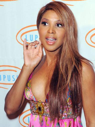 Monofilament Without Bangs Straight Long Ombre/2 Tone New Toni Braxton Wigs