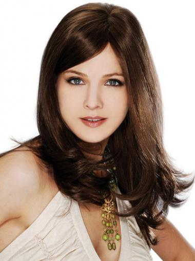 Straight Layered 100% Hand-tied Brown Best Long Wigs