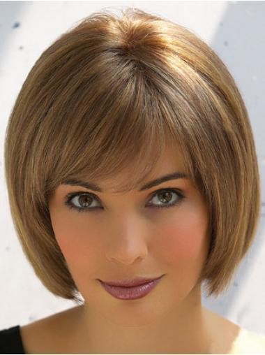 Human Hair Bob Lace Wigs Bobs Cut Short Length With Capless