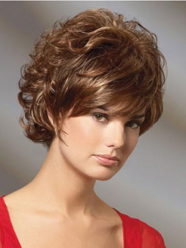 Curly Auburn Gorgeous Short Classic Wigs