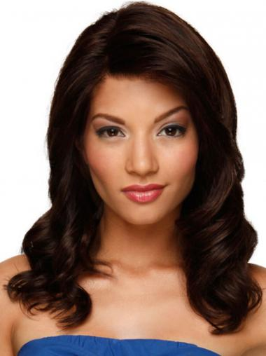 Hand Tied Lace Front Human Hair Wig Auburn Color Long Length
