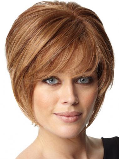 Short Bob Hairstyles Remy Human Capless Bobs Cut Auburn Color