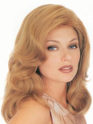 Wavy Blonde Convenient Long Classic Wigs