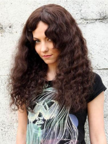 Human Curly Wigs With Capless Curly Style Long Length