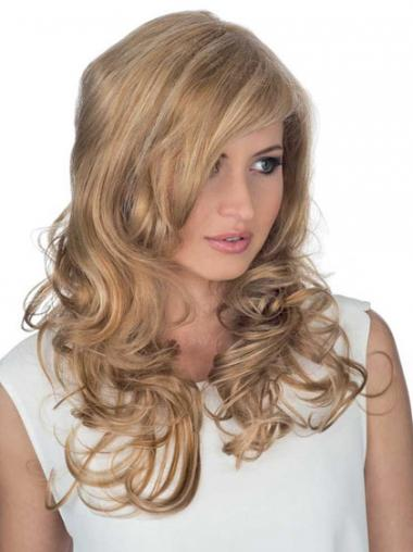 "Good 18"" Blonde Long Layered Curly Lace Wigs"