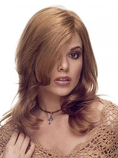 Convenient Brown Long Layered Wavy Lace Wigs