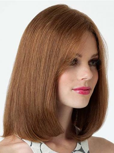 Lace Front Shoulder Length Straight Brown Fashion Bob Wigs