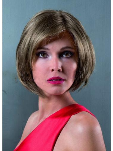 Lace Front Chin Length Straight Brown Discount Bob Wigs