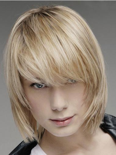 Brown Lace Front Straight Men Hand Tied And Mono Top Human Hair Wig
