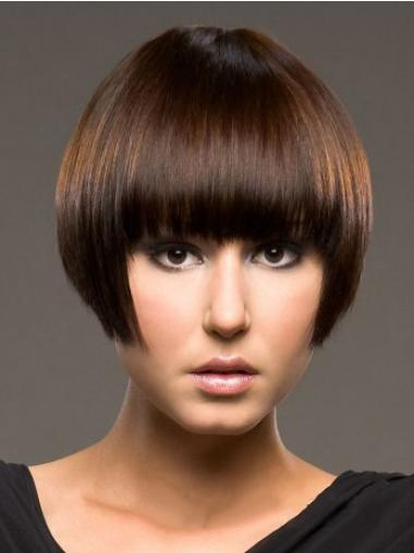 Bob Human Hair Wigs With Capless Straight Style Short Length