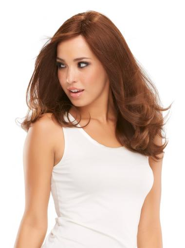 Auburn Hair Wigs Human Hair In UK Wavy Style Layered Cut
