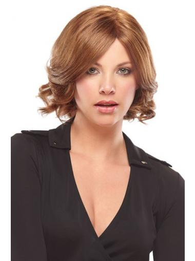 Chin Length Wavy Monofilament Auburn Ideal Bob Wigs