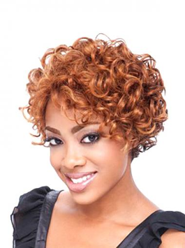 Short Curly African Wig Curly Style Shoulder Length Boycuts Full Lace