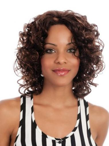 "Great Chin Length Curly 14"" Synthetic Glueless Lace Front Wigs"
