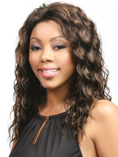 """Soft Long Wavy 18"""" Synthetic Glueless Lace Front Wigs"""