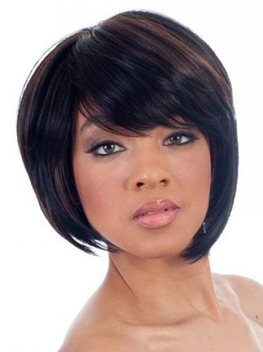 African Short Wigs With Capless Bobs Cut Chin Length