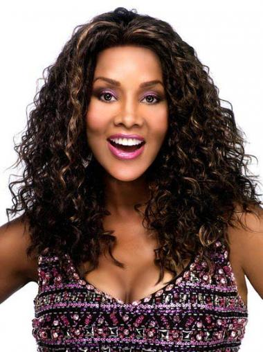 Synthetic Lace Front Long Curly Brown Afro Kinky Lace Wig