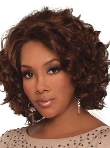 Indian Remy Lace Front Chin Length Curly Style African Styles