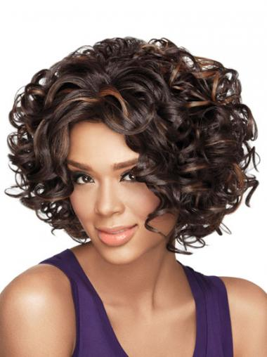 Wigs African American With Synthetic Capless Chin Length Curly Style