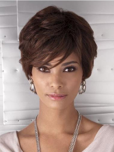 Cropped Auburn Wavy Layered Cheapest African American Wigs