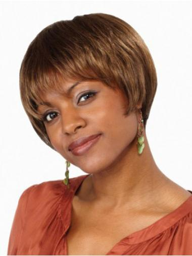 Lace Front Short Straight Brown Sassy Bob Wigs