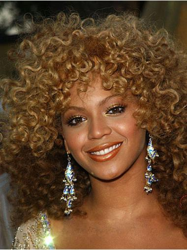 """11"""" Caples Synthetic Blonde Classic Kinky Curly Lace Wigs"""