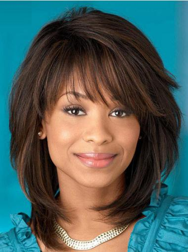 African American Wigs For Women With Capless Synthetic Shoulder Length