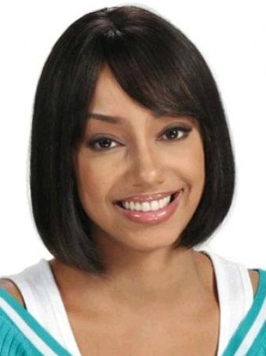 Short Hair Wigs African American Straight Style Chin Length