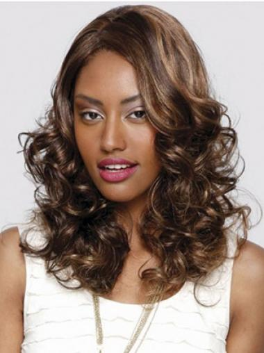 "Modern Long Curly 16"" Synthetic Glueless Lace Front Wigs"