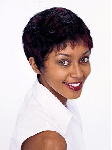 Short Wigs For African American Women Curly Style Auburn Color Bobcuts
