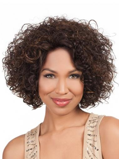 """High Quality Chin Length Kinky 10"""" Synthetic Glueless Lace Front Wigs"""