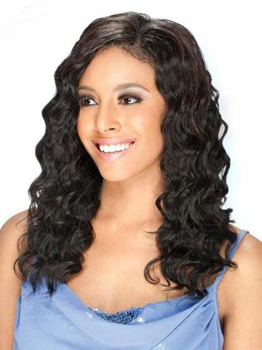 Brazilian Human Hair Lace Front Wigs Black Color Long Length
