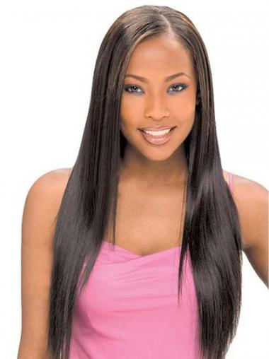 "Fabulous Long Straight 22"" Synthetic Glueless Lace Front Wigs"