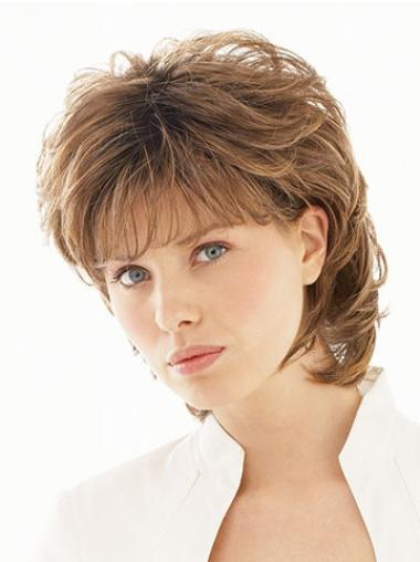 Wavy Brown Good Short Classic Wigs