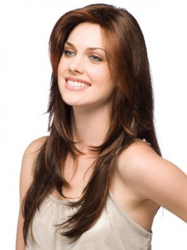 Best Brown Straight Layered Long Wigs