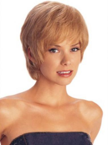 Short Layered Straight Auburn Amazing Synthetic Wigs