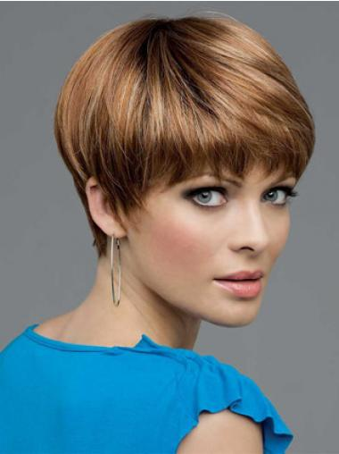 Synthetic Lace Wigs UK With Lace Front Bobs Cut Straight Length