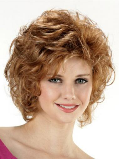 Trendy Brown Chin Length Curly Layered Lace Front Wigs