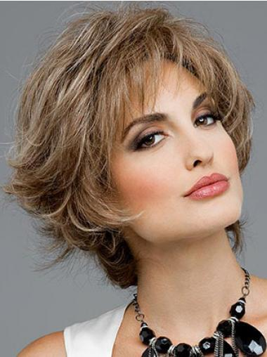 Cheap Synthetic Hair UK Layered Cut Short Length Wavy Style