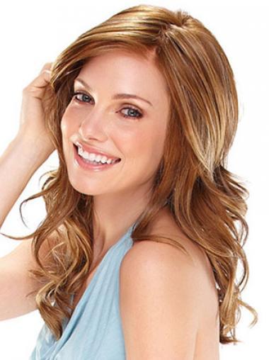 Wavy Without Bangs Long Auburn Flexibility Lace Front Wigs