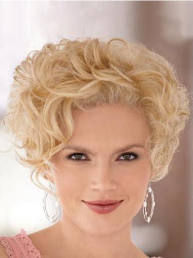 High Quality Blonde Short Curly Classic Lace Front Wigs