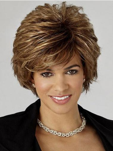 Wavy Brown Cheapest Short Classic Wigs