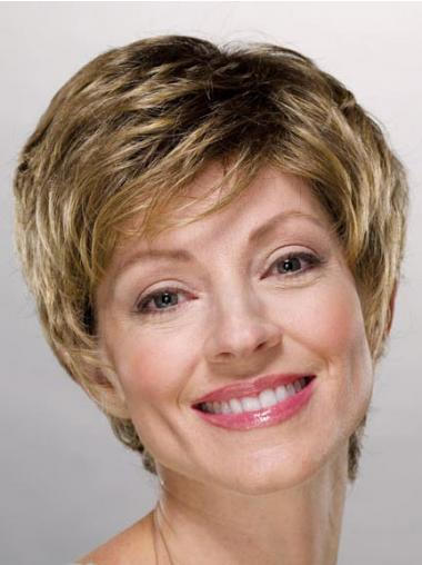 Ladies Wigs Cheap Synthetic With Capless Boycuts Short Length