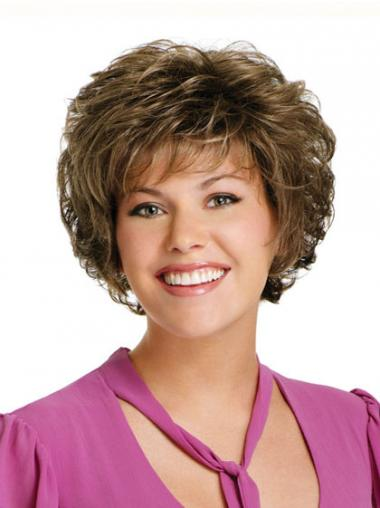 Curly Brown Discount Short Classic Wigs
