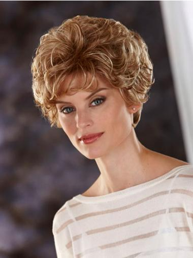 Wavy Blonde Cheap Cropped Classic Wigs