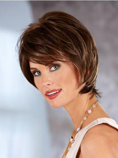 Straight Auburn Beautiful Chin Length Classic Wigs