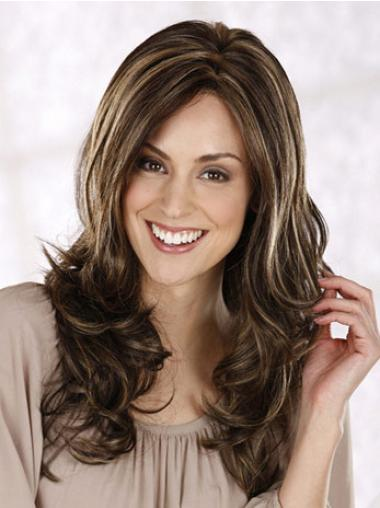 Curly Layered Long Brown Hairstyles Lace Front Wigs